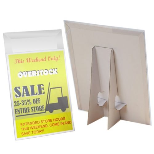 Easel Back Sign Holders with Clear Covers