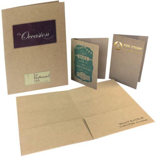 Custom Chipboard Kraft Pocket Folders