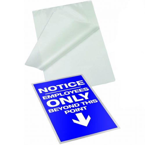 Letter Size Self-Laminating Pouches