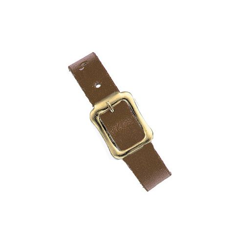Leather Luggage Straps with Brass Buckles