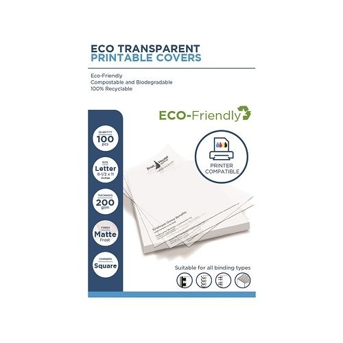 Eco Transparent Printable Covers