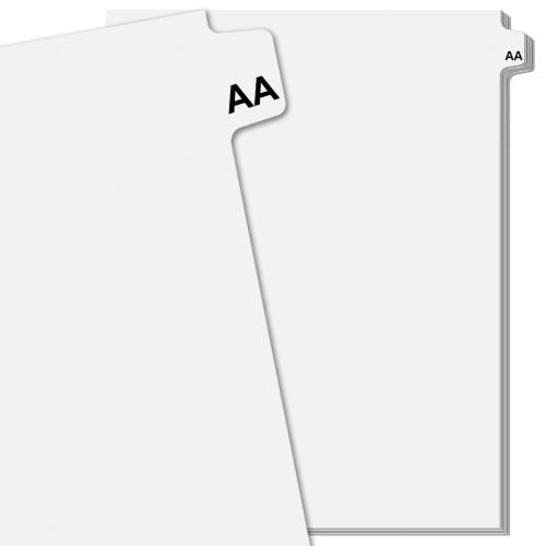 Individual Double Letter Pre-Printed Index Tab Dividers, Avery Style