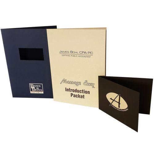 Customized Linen & Felt Assorted Pocket Folders