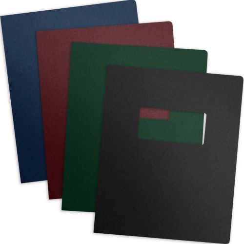 Best Selection of Linen Paper Report Covers with Windows