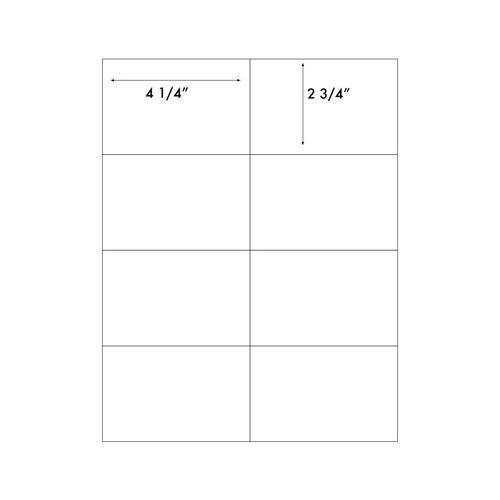 "4 ¼"" x 2 ¾"" Peel-&-Stick Printable 8-Up Labels (Pack of 100) Item#22COPY08LA"