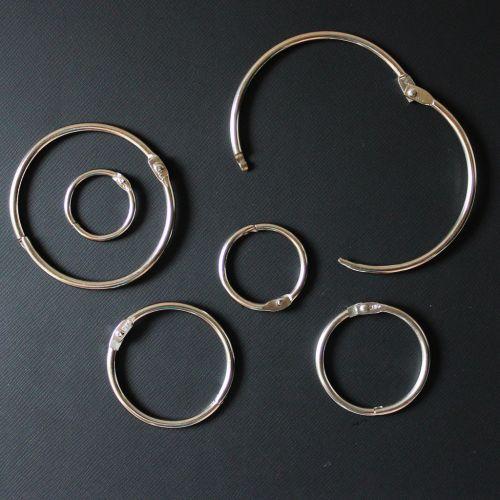"""1 ½"""" Silver Metal Loose Leaf Binding Rings (100/Pk) Item#11MLLBR112"""