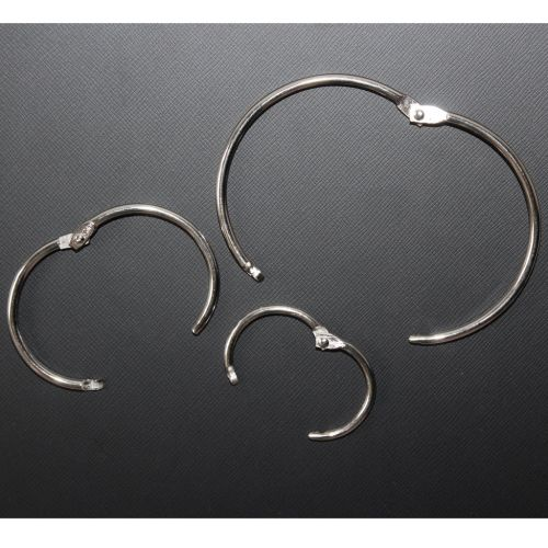 "3"" Silver Metal Loose Leaf Binding Rings (100/Pk) Item#11MLLBR300"
