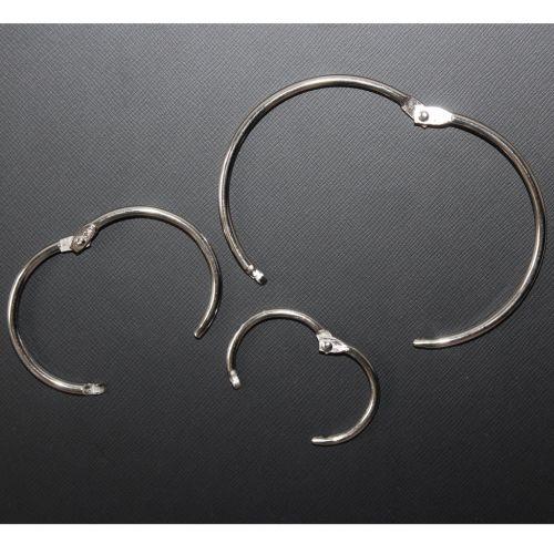 """1-1/4"""" Silver Metal Loose Leaf Binding Rings (100/Pk) Item#11MLLBR114"""