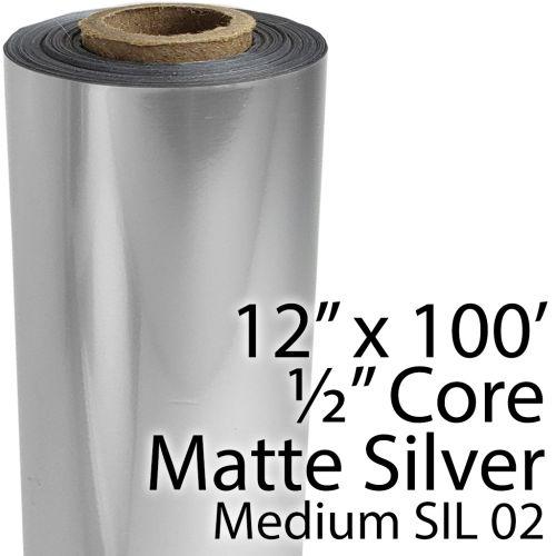 "12"" x 100' Medium Matte Silver Foil Rolls"