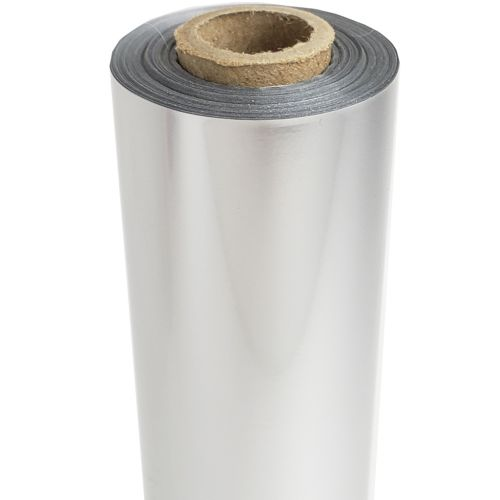 """24"""" x 500' Pearl Satin Matte Silver Laminating Toner Foil with 1"""" Core (1 Roll) #SIL-40"""