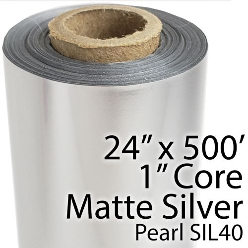 "24"" x 500' Matte Silver (Pearl) Toner Foil Fusing Roll"