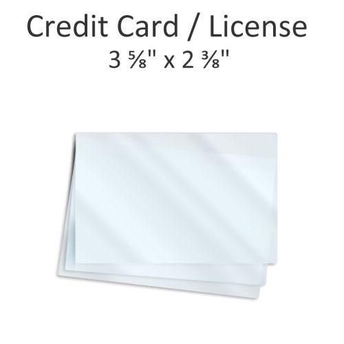 """3 ⅝"""" x 2 ⅜"""" Oversized Wallet Laminating Pouches [10 Mil] (100/Bx)"""