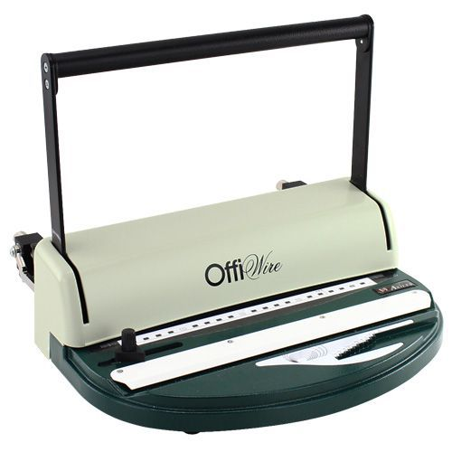 Offiwire 2:1 Small Wire Binding Machine | Personal Wire Binders for Low-Volume, Occiassional Professional Binding Needs