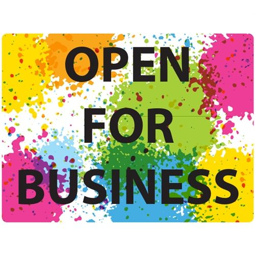 """Open For Business 9"""" x 12"""" Repositionable Signage - Pack of 5 Image 1"""