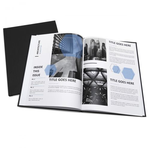 "9mm Black 8.5"" x 11"" Diplomat Metal Spine Thermal Binding Hard Covers (10/Pk)"