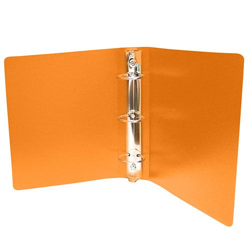 Orange Half Size Poly Binders (Case of 100) Image 1