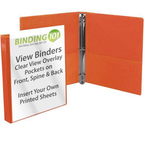 """3"""" Orange View Binder (Each-60 Minimum Order Requirement)"""