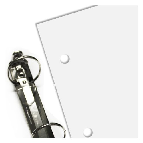 3-Hole Punched Paper for Half Size Mini Letter Sheets
