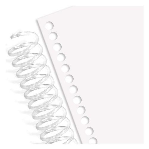 """20# Spiral Coil Punched Paper [34 Round Holes, 4:1 Pitch, Half Size 5.5""""Wx8.5""""H] (5,000 Sheets)"""