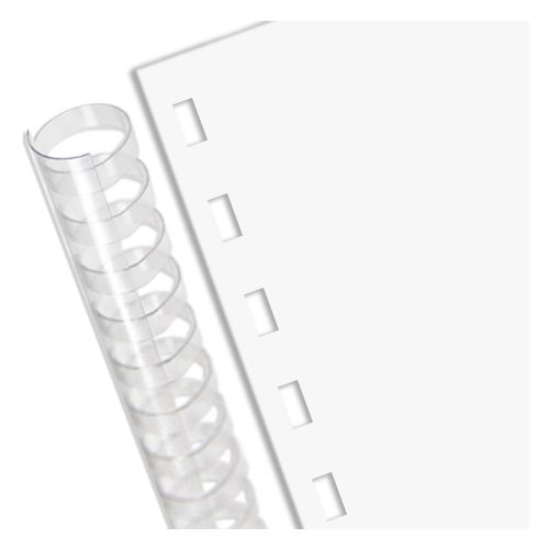 """28# Bond 15-Hole 8.5"""" x 5.5"""" Comb Punched Paper - 1250 Sheets/Case"""