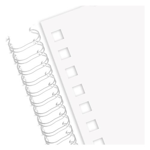 Wire Punched Paper for 3:1 Wire-O Twin Loop Bindings, 32 Hole