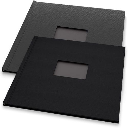 """12"""" H x 12"""" W Square Pinchbook™ Photo Books with Window (5 Pack)"""