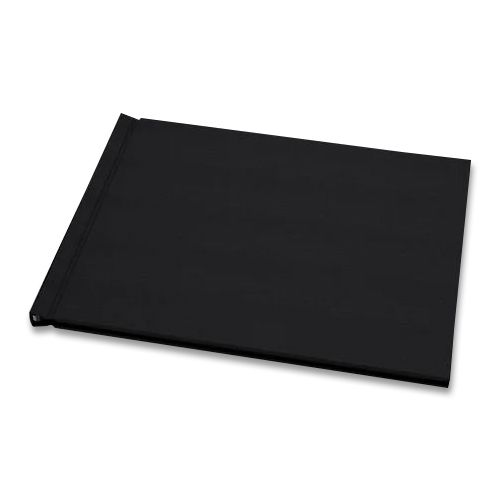 "Black Linen Cloth 8-1/2"" H x 11"" W Landscape Pinchbook™ Hardcover Photo Books (5 Pack)"