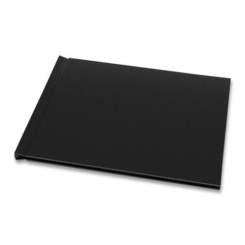 "Black Vegan Leather 8-1/2"" H x 11-3/4"" W Landscape Pinchbook™ Hardcover Photo Books (5 Pack)"