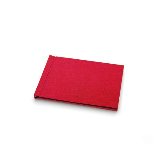 "Red Linen Cloth 5"" H x 7"" W Landscape Pinchbook™ Hardcover Photo Books (10 Pack)"