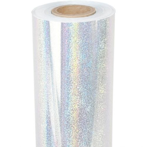 """8"""" x 100' Pixie Dust Glitter Clear-Underlay Laminating Toner Foil with 1/2"""" Core (1 Roll) #TP-150"""