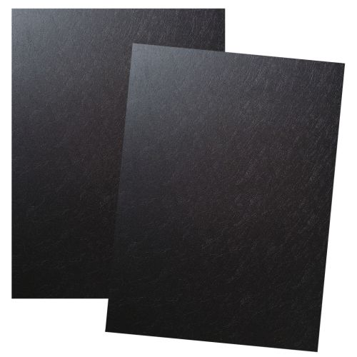 Black Poly Leather Report Covers