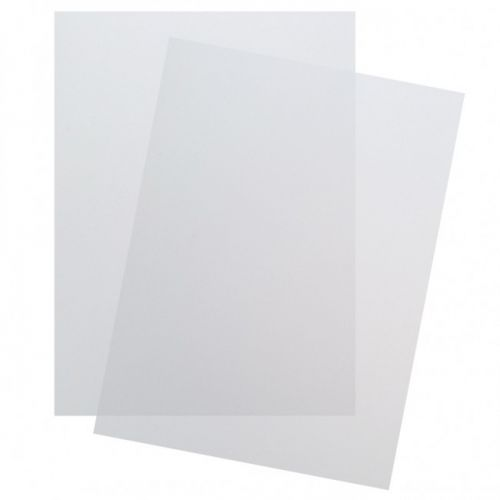 """Poly Matte/Frost Covers [Clear, 8 ½"""" x 11"""", 12 Mil] (100/Pk) Item#03PPCMF12AA"""