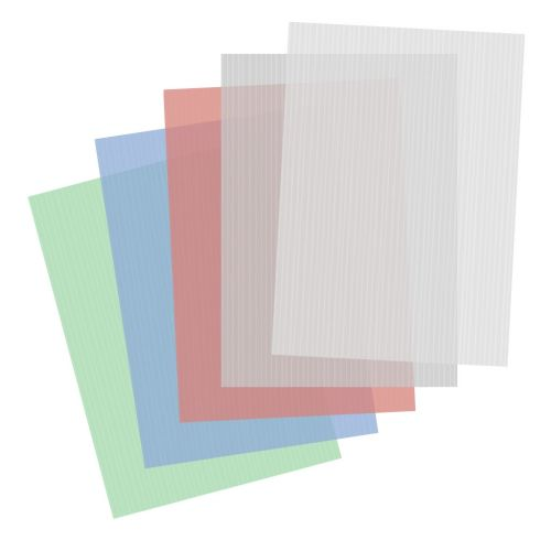 Poly Stripe Report Covers, Assorted Colors, Fanned out
