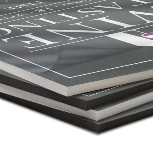 Thermal Foam Core Pouch Boards with Gloss Laminate