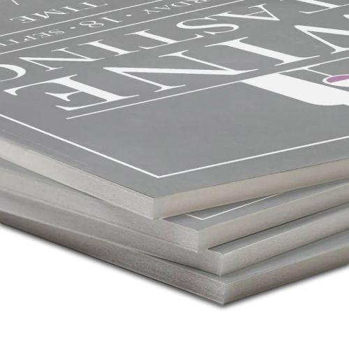 White Foam Core Pouch Boards with Pressure-Sensitive Adhesive