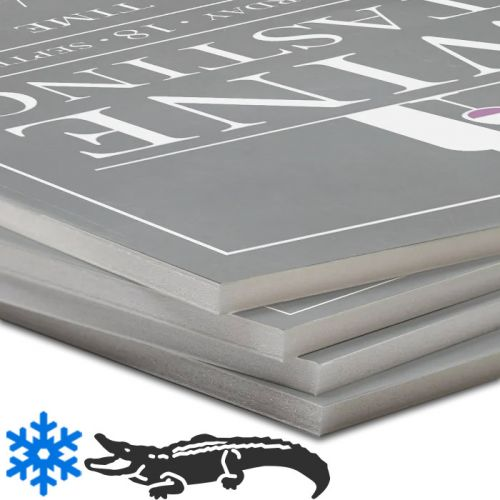 White Gator Pouch Boards with Pressure-Sensitive Adhesive