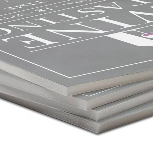 White Foam Core Pouch Boards with Thermal Adhesiv