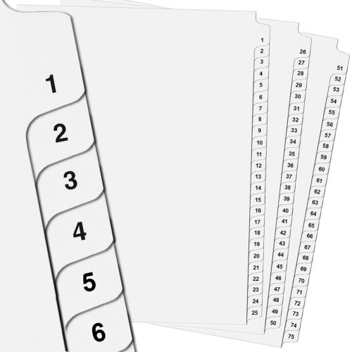 Collated Avery Legal Tabs with Printed Numbers