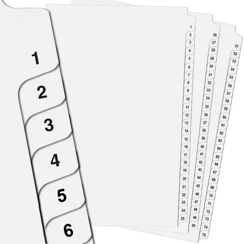 Avery Side Number Tabs in Collated Sets [Legal Size]