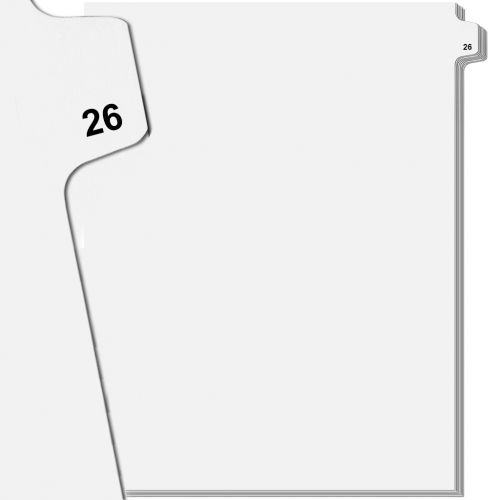 Avery Individual Side Number Tabs from 26 to 50 [Letter Size] (Pack of 25 Tabs)
