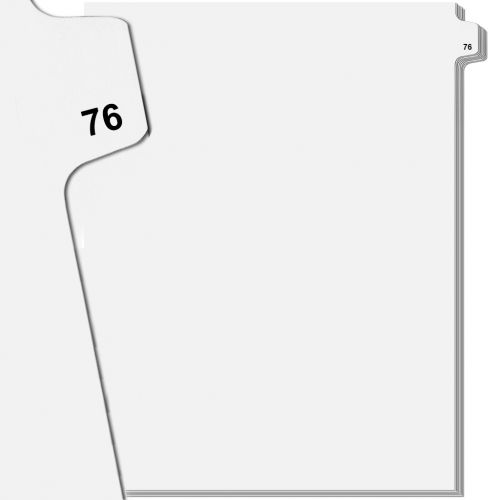 Numbered Tabs with 76 Printed on 2 Sides - Avery Index Dividers