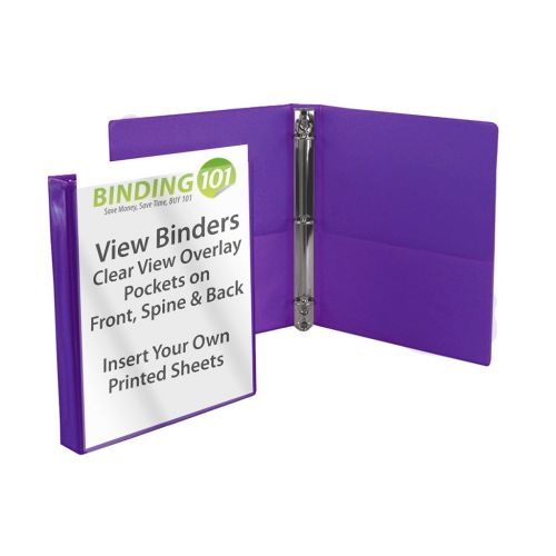 Purple Half Size View Binders