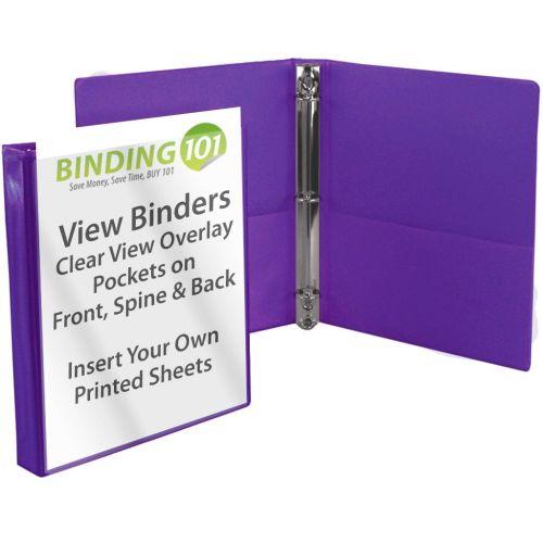 """1/2"""" Purple View Binder (Each-60 Minimum Order Requirement)"""