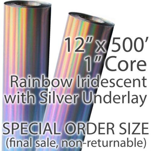 Rainbow Iridescent Foil Fusing Roll