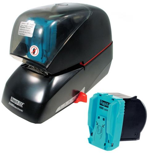 Rapid 5080e Electric Flat Clinch Stapler with Free Staple Cassette
