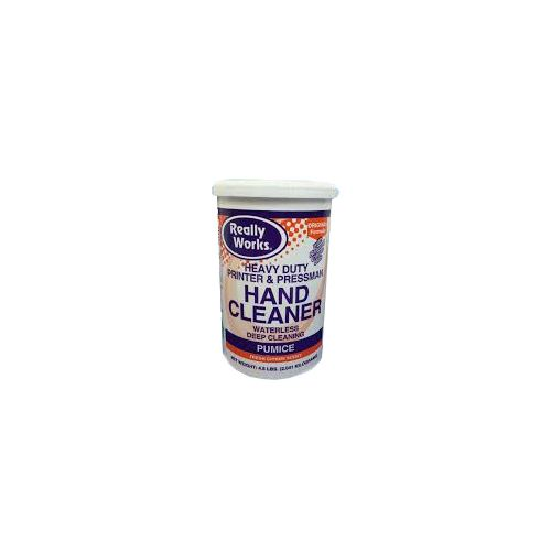 Really Works Heavy Duty Hand Cleaner with Pumice, 4.5 lb. Container Waterless Deep Cleaning for Printers and Pressrooms