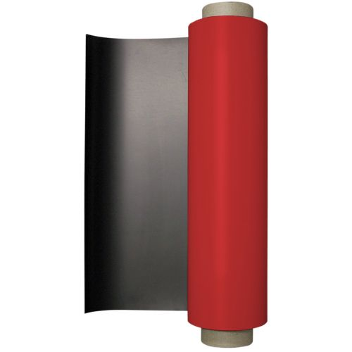 """24.375"""" x 50' Red 20 Mil Colored Vinyl Magnetic Rolls (Discontinued)"""