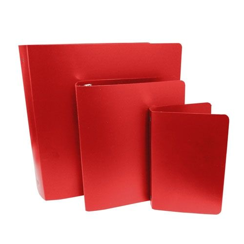 Red Letter Size Poly Binders (Case of 100) Image 1