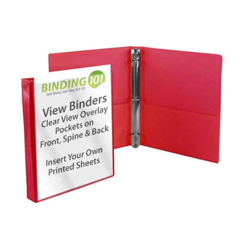 Red Half Size View Binders