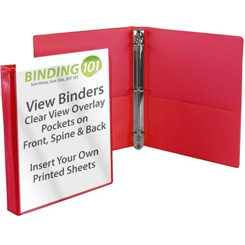 Red Letter Size Standard View Binders [Round Ring] Image 1